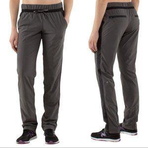 Lululemon Run Bandit Track Pants Grey/Black Size 4